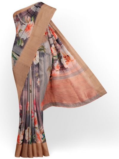 Kathana Exclusive Printed Linen Saree - MIA3009812