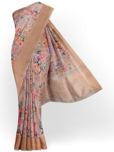 Kathana Exclusive Printed Linen Saree - MIA3009814