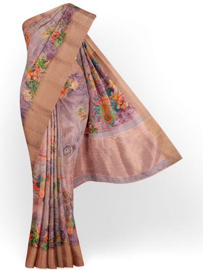 Kathana Exclusive Printed Linen Saree - MIA3009818
