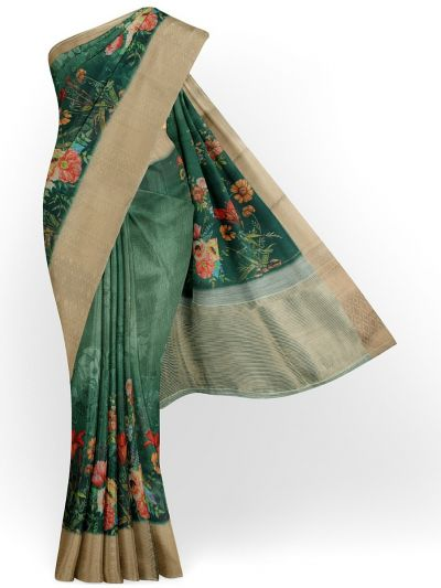 Kathana Exclusive Printed Linen Saree - MIA3009820