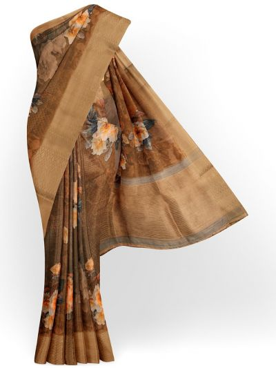 Kathana Exclusive Printed Linen Saree - MIA3009821