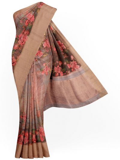 Kathana Exclusive Printed Linen Saree - MIA3009822