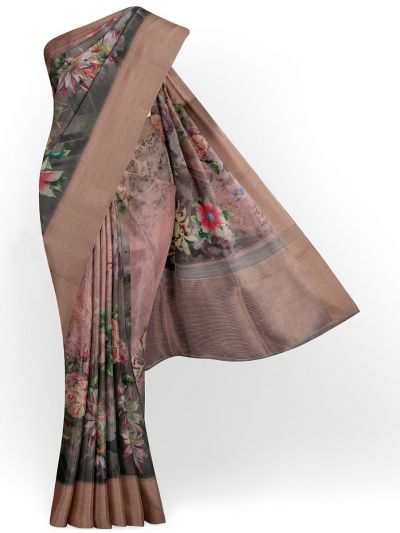 Kathana Exclusive Printed Linen Saree - MIA3009823