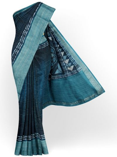 Kathana Exclusive Printed Linen Saree - MIA3009830