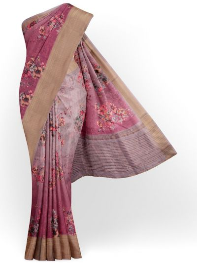 Kathana Exclusive Printed Linen Saree - MIA3009831