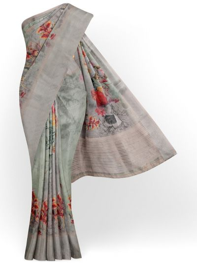 Kathana Exclusive Printed Linen Saree - MIA3009832