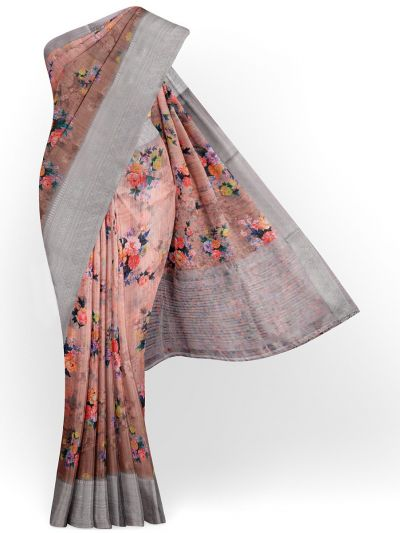 Kathana Exclusive Printed Linen Saree - MIA3009835