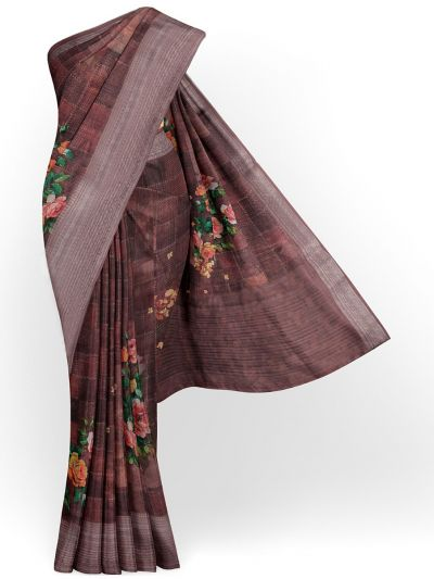 Kathana Exclusive Printed Linen Saree - MIA3009836