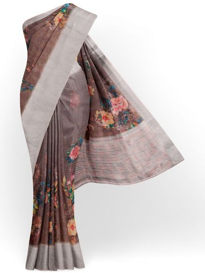 Kathana Exclusive Printed Linen Saree - MIA3009837