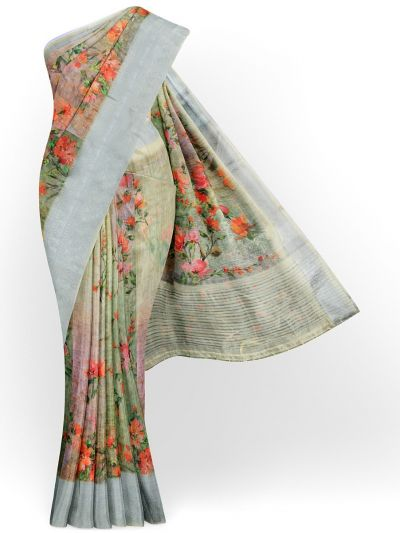 Kathana Exclusive Printed Linen Saree - MIA3009841