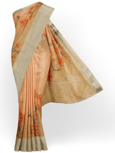 Kathana Exclusive Printed Linen Saree - MIA3009843