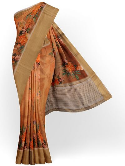 Kathana Exclusive Printed Linen Saree - MIA3009850