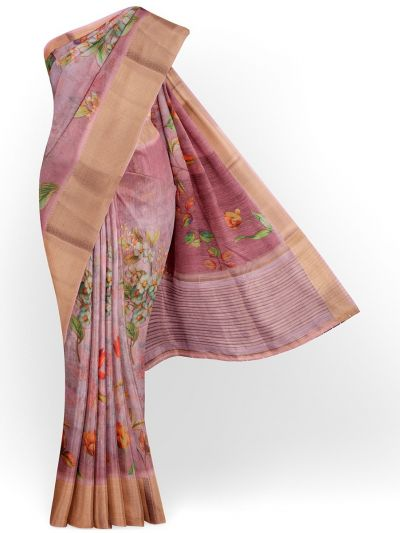 Kathana Exclusive Printed Linen Saree - MIA3009851