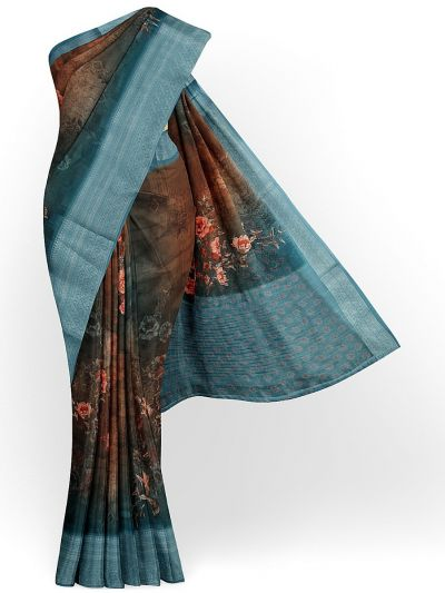 Kathana Exclusive Printed Linen Saree - MIA3009854