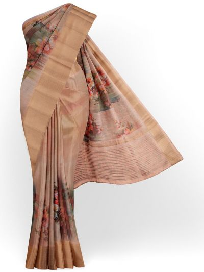 Kathana Exclusive Printed Linen Saree - MIA3009855