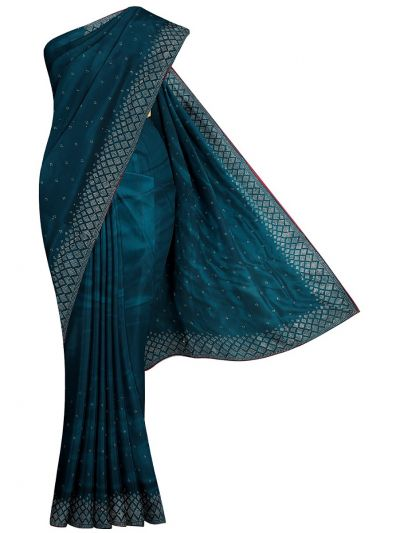 Yuvathi Synthetic Stone Work Saree - MIB3456129