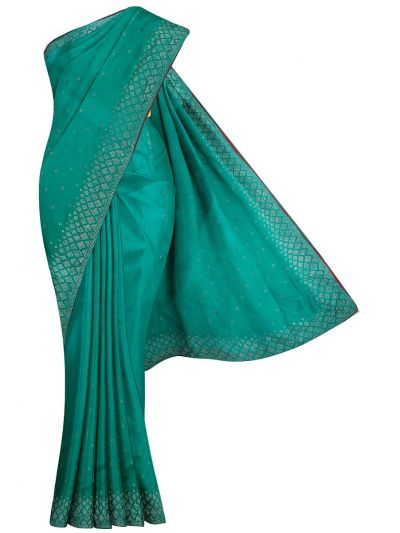 Yuvathi Synthetic Stone Work Saree - MIB3456131