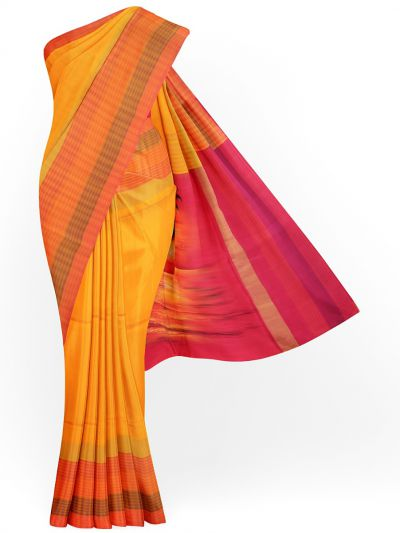 MJC7619282-Kanmanie Handpainted Soft Silk Saree