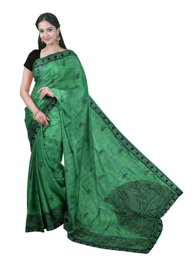 ONL-MCC9538317-Kathana Exclusive Designer Embroidery Raw Silk Saree