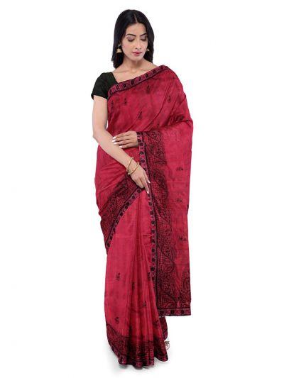 ONL-MCC9538319-Kathana Exclusive Designer Embroidery Raw Silk Saree