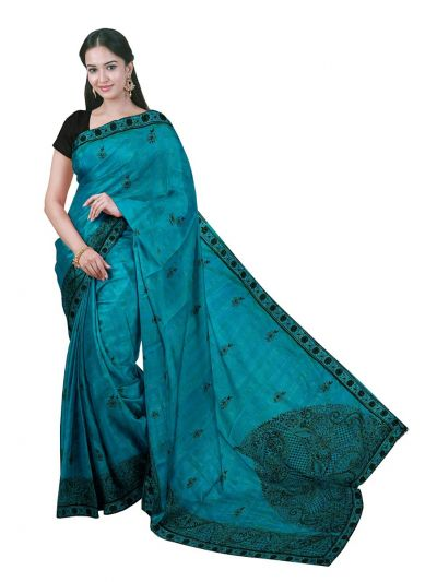 ONL-MCC9538325-Kathana Exclusive Designer Embroidery Raw Silk Saree