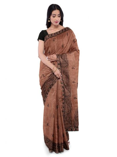 ONL-MCC9538326-Kathana Exclusive Designer Embroidery Raw Silk Saree
