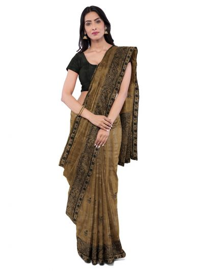 ONL-MCC9538327-Kathana Exclusive Designer Embroidery Raw Silk Saree