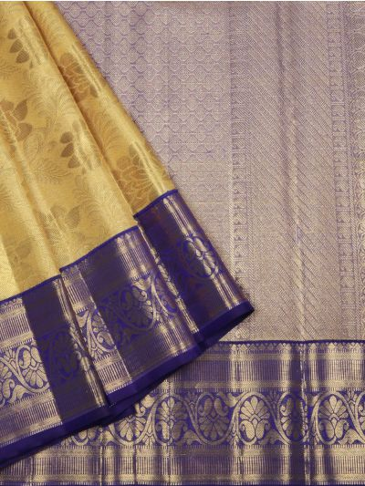 Vivaha Goddess Golden Pure Kanchipuram Silk Saree