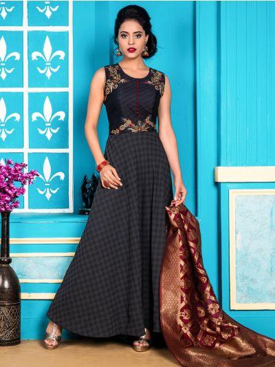 Kyathi Women's Exclusive Readymade Salwar Kameez - SABA001