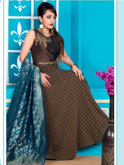 Kyathi Women's Exclusive Readymade Salwar Kameez - SABA004