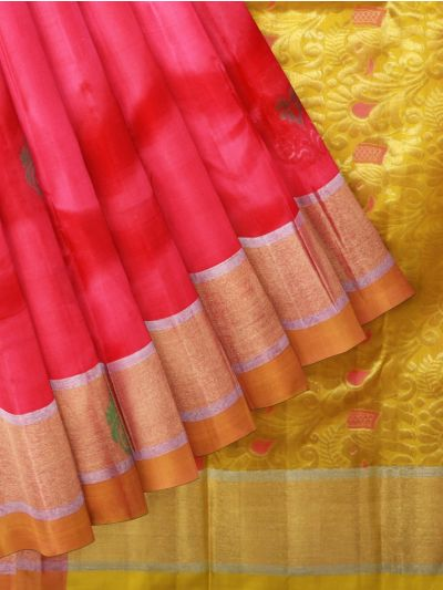 Pure Soft Silk Pink Saree