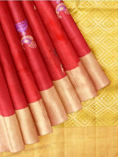 Pure Soft Silk Red Saree