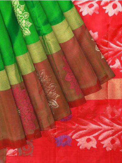 Pure Soft Silk Green Saree