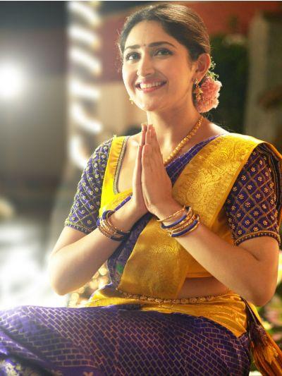 Vivaha Bridal Blue Color Silk Saree