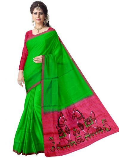 Hand Painted Special Soft Silk Saree