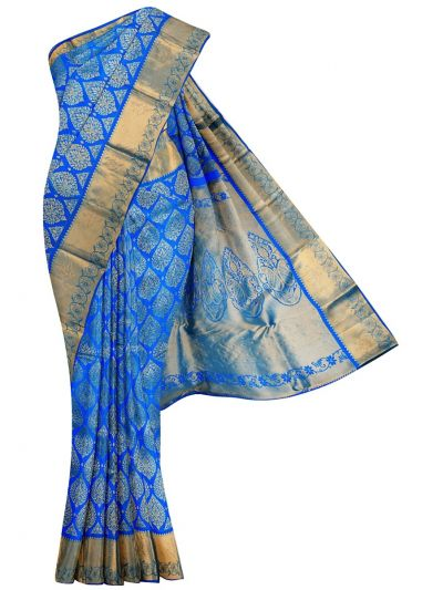 MGD1015556 - Vivaha Stone work Wedding Silk Saree