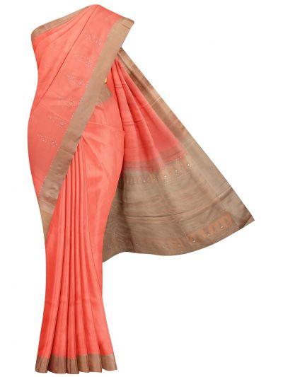 Kanmanie Stone Work Soft Silk Saree