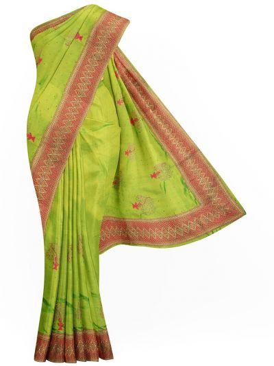 Sahithyam Exclusive Stone Work Sana Silk With Patch Work Saree - MIC4192693