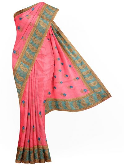 Sahithyam Exclusive Stone Work Sana Silk With Patch Work Saree - MIC4193194