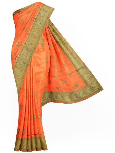 Sahithyam Exclusive Stone Work Sana Silk With Patch Work Saree - MIC4193204