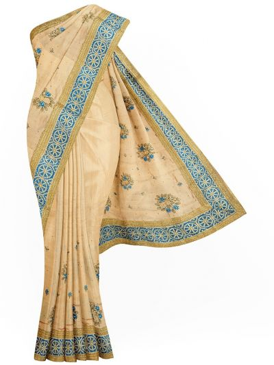 Sahithyam Exclusive Stone Work Sana Silk With Patch Work Saree - MIC4193211