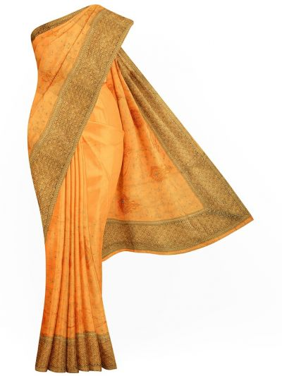 Sahithyam Exclusive Stone Work Sana Silk With Patch Work Saree - MIC4193431