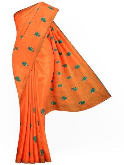 Kathana Exclusive Designer Embroidery Raw Silk Saree - MID6073986