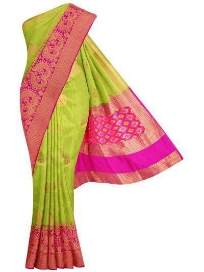 Fancy Semi Jute Saree - MJD8215134