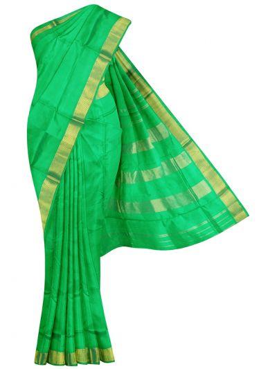 NEC2130446 - Handloom Pure Silk Nine Yards Saree