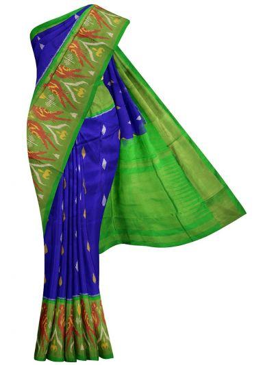 NED3253895 - Pochampally Handloom Pure Ikat Silk Saree