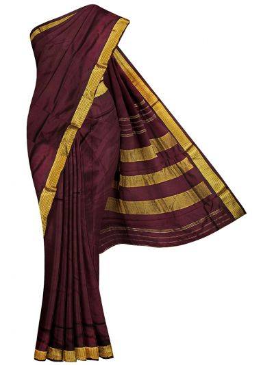 Handloom Pure Silk Nine Yards Saree - NFB3971058