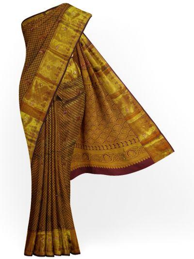Traditional Silk Stone Work Saree - EKM- NHB4450297