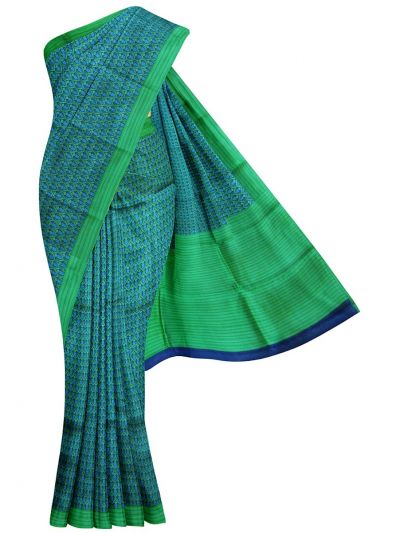 EKM-NHC4859099 - Dupion Printed Tussar Silk Saree