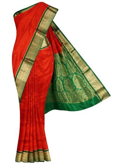 NHC4891753 - Handloom Pure Silk Nine Yards Saree